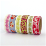 Washi tape set of 6 rolls x10m with hearts & stars