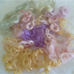 Pastel Colours Mohair for Doll/Toy Hair / mixed bag