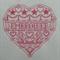 Machine Embroidery Quilt/Craft Blocks Embroider Heart Design