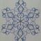 Machine Embroidery Quilt/Craft Block Sparkling Snowflake Design