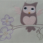 Machine Embroidery Quilt/Craft Blocks Crafty Critters Owl Design