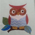 Machine Embroidery Quilt/Craft Blocks Whooo Loves This Retro Owl Design