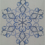 Machine Embroidery Quilt/Craft Block Sparkling Snowflake Design