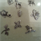 Set of 9 silver Charms  Great for any Craft idea Vintage Mouse,Spider and more