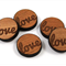 Laser Cut Supplies-6 Pieces.12 mm Wide Love -Sustainable Wood