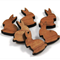 Laser Cut Supplies-6 Pieces.12 mm Wide Bunny -Sustainable Wood