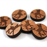 Laser Cut Supplies-6 Pieces.12 mm Wide Fawn & Butterfly -Sustainable Wood