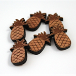 Laser Cut Supplies-6 Pieces.12 mm Wide Pineapples -Sustainable Wood