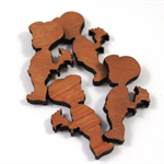 Laser Cut Supplies-6 Pieces.15 mm Wide By with Flowers -Sustainable Wood