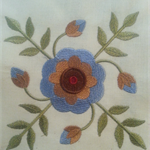 Machine Embroidery Quilt/Craft Block Bachelor Button Design