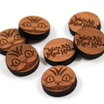 Laser Cut Supplies-6 Pieces.15 mm Wide Cheshire Cat -Sustainable Wood