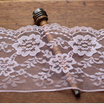 5 Metres Wide Soft Ice Pink Scalloped Lace