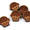 Laser Cut Supplies-6 Pieces.12 mm Wide Cupcake -Sustainable Wood