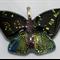 Butterfly Dichroic Glass Pendant Blues/Gold/Purple/Orange