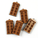 Laser Cut Supplies-6 Pieces.15 mm Wide Tardis -Sustainable Wood