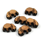 Laser Cut Supplies-6 Pieces.15 mm Wide Panda -Sustainable Wood