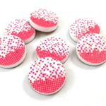 Laser Cut Supplies-6 Pieces.15 mm Wide Pink Confetti -Laser Cut Acrylic