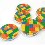 Laser Cut Supplies-6 Pieces.25mm Wide Lego Block Charms / hole-Laser Cut Acrylic