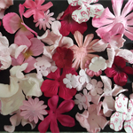 Paper Flowers - Pink - Assorted Shades, Styles & Sizes - Pack of 45