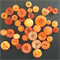 Orange Buttons - Assorted Sizes
