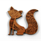 Laser Cut Wood Supplies-1 Piece.50 mm Wide Pretty Fox -Sustainable Wood