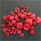 red buttons - assorted sizes/styles - 46 pieces.