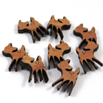 Laser Cut Supplies-6 Pieces.15 mm Wide Little Fawn Shape -Sustainable Wood