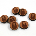 Laser Cut Supplies-6 Pieces.12 mm Wide Babushka Doll-Sustainable Wood