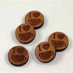 Laser Cut Wood Supplies-6 Pieces.12 mm Wide 