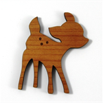 Laser Cut Wood Supplies-1 Piece.45 mm Wide Fawn -Sustainable Wood