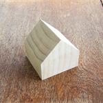 WOODEN HOUSE BLOCKS, 7cm Pine Blanks Toymaking, Set of 3
