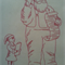 Machine Embroidery Quilt/Craft Block  Santa and List  With Child Design