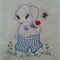 Machine Embroidery Quilt/Craft Block  Goat  and Flowers