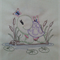 Machine Embroidery Quilt/Craft Block  Turtle and Butterflies
