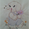Machine Embroidery Quilt/Craft Block  Puppy and Flowers (Vintage) Design