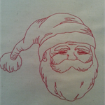 Machine Embroidery Quilt/Craft Block  Santa Face  Design