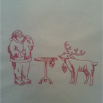 Machine Embroidery Quilt/Craft Block  Santa and His Reindeer Snack Design