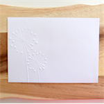 Embossed Envelopes - Floral Design - Dandelions-10 Pack