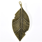 Large Antique Bronze Leaf  Pendants