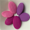 5 x Silicone Teething Beads - faceted flat oval - choose colour