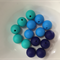 10 x Silicone Teething Beads - 15mm Sphere - choose colour