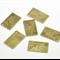 5 Charm Pendants Post Card/ Letter Antique Bronze
