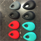 2 x Silicone Teething Beads - teardrop shape - choose colour