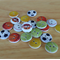 20 Sport Balls Wood Buttons, Craft, Sewing, DIY **Free Shipping