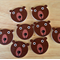8 Woodland Bear, Flat Back Embellishments