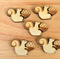 5 Squirrel, Laser Cut, Flat Back Embellishments