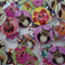 50 x 20mm Hoot Owl  designs on white wood buttons