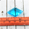 Faceted Glass Light Blue Diamond Pendant