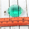 Sea Green Faceted Tear Drop Pendant