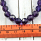 8mm Dark Purple Czech Faceted Bead Strand Of 41Stones